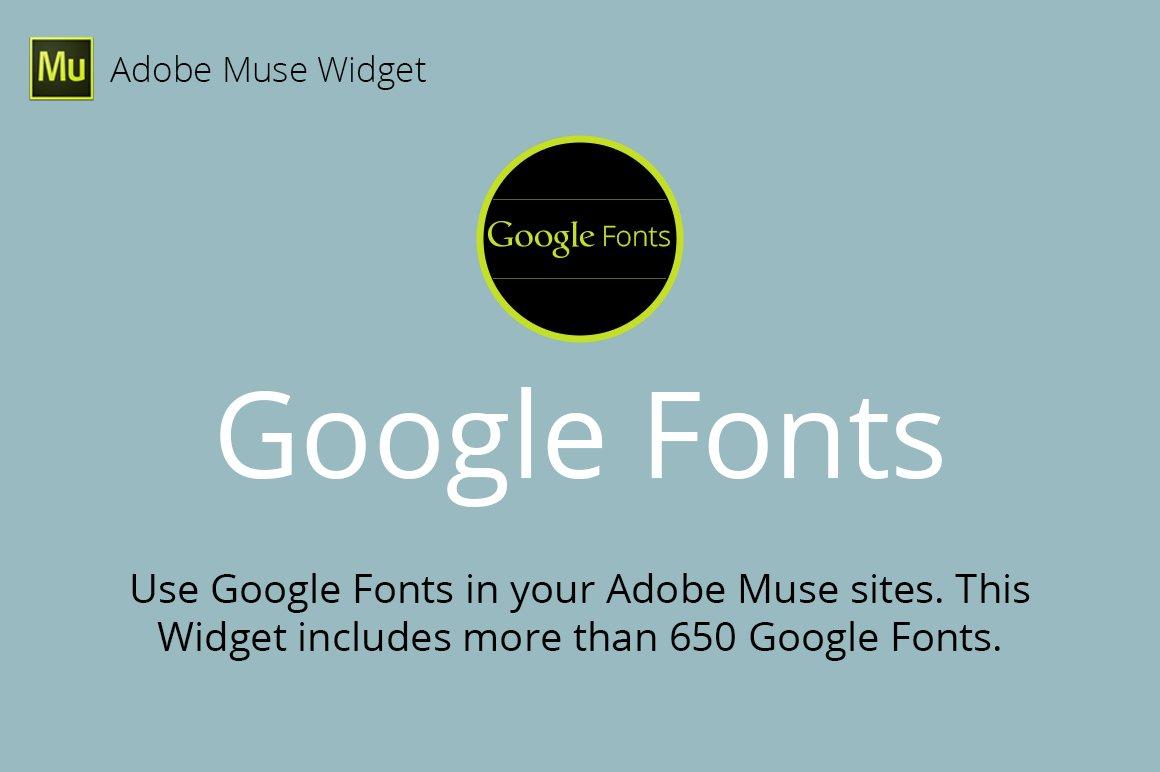 Google fonts adobe muse widget plug ins creative market ccuart Images