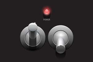 Cool Realistic Toggle Switch grey