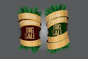 Big Christmas sale. Label, price tag