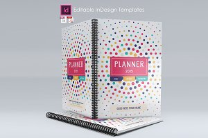 2019 Weekly Planner Agenda-Indesign