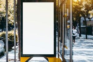 Empty billboard placeholder mockup