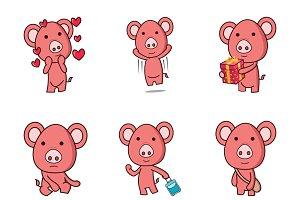 Cute Cartoon Pig Illustration