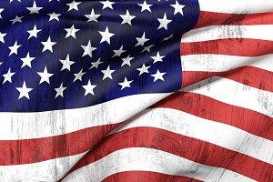 Old USA flag