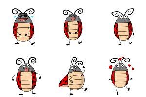 Cartoon Illustration Of Ladybug