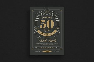Vintage Anniversary Flyer/Invitation
