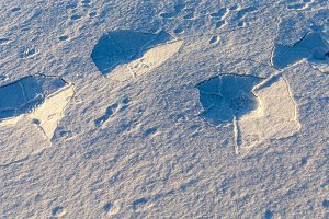 surface of snow