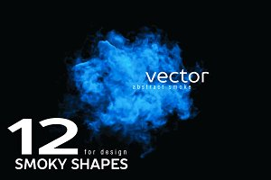 Vector smoky shapes