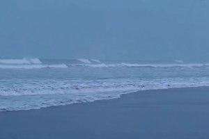 Blue ocean waves, sea beach waves