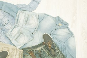 denim clothes vintage style