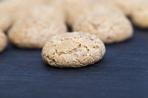 small round biscuit