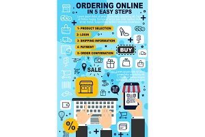 Ordering online service, purchase