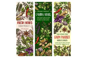 Garden herbs and farm spice