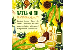 Vegetable, grain, seeds and nuts oil