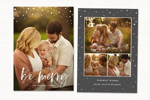 Christmas Card Template CC210