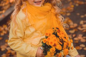 Little girl with blond hair in