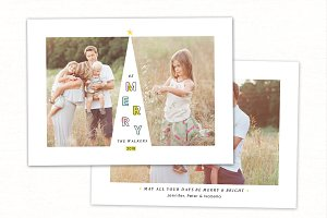 Christmas Card Template CC209