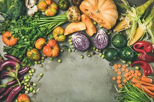 Healthy vegetarian seasonal Fall