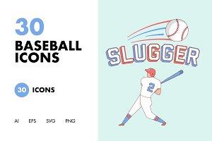30 Baseball Icons