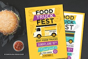 Food Truck Menu Poster