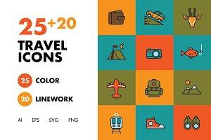 25+20 Travel Icons