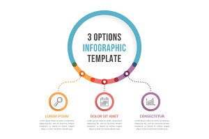 3 Options Infographic Template