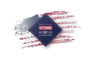 Veterans Day greeting card.
