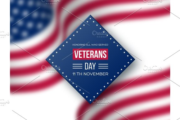 Veterans day greeting card illustrations creative market veterans day greeting card illustrations m4hsunfo