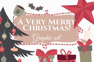 """""""A very Merry Christmas"""" Ghaphic set"""