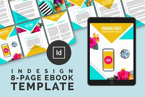 Vibrant Hues Ebook InDesign Template