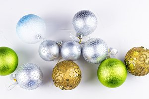 Nice christmas balls in silver, gold