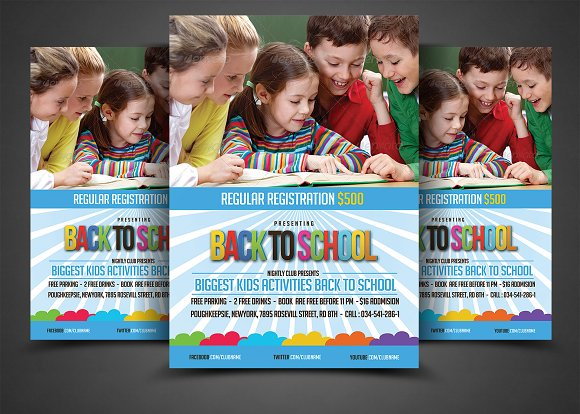 kids education flyer template flyer templates creative market