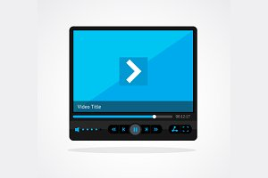 Vector  video player skin set