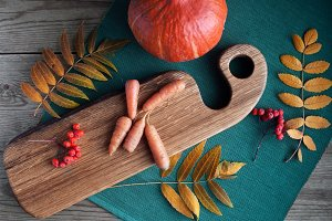 Autumn vegetables: pumpkins and