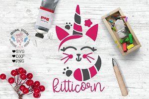 Kitty Unicorn Cut File
