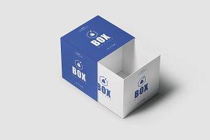 Square Box Mock-up 4