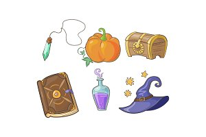Magical signs set, Halloween