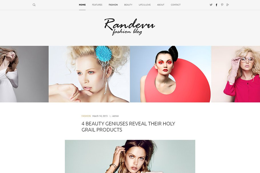 Randevu - Fashion Wordpress Theme