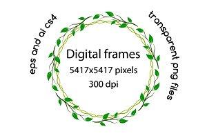 Spring related digital frames