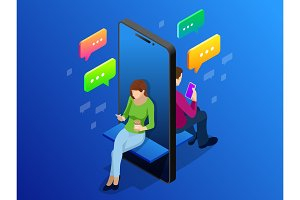 Isometric online dating and social