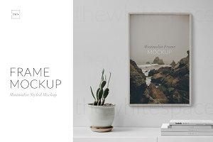 Frame Mockup - Minimal Styled Scene
