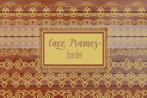 №280 Bronze gold Lacy Borders