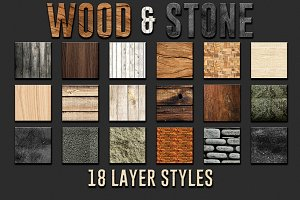 Wood & Stone Layer Styles