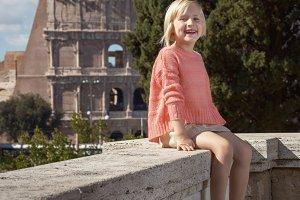 357n Portrait of happy trendy child