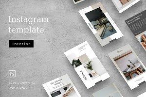 Interior social media template