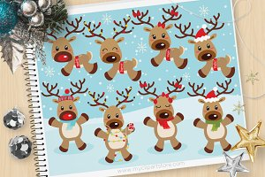 Reindeer Games, Christmas Clipart
