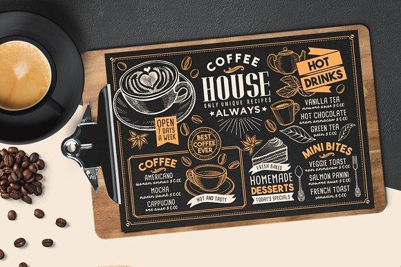 Coffee House Menu Template Brochure Templates Creative Market