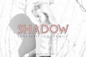 SHADOW Sans Serif Font Family