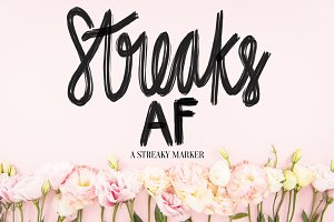 Streaks AF Procreate Lettering Brush