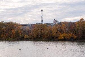 Autumn landscape by the river