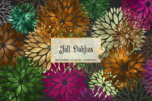 Fall Dahlia Clipart